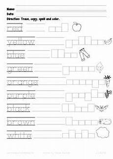 color spelling worksheets 22345 73 best images about stuff for on free printables coloring pages and activities