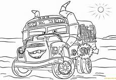 miss fritter from cars 3 disney coloring page free