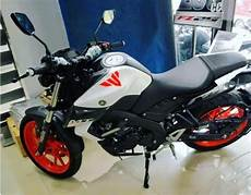 Mt 15 Modif by Dealer Modified Yamaha Mt 15 Gets White Colour With Orange