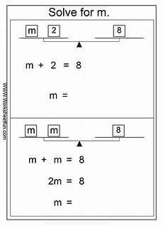 algebra solve for m solve the equation 6 worksheets free printable worksheets worksheetfun