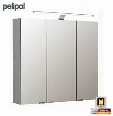 pelipal neutraler spiegelschrank 80 cm mit led