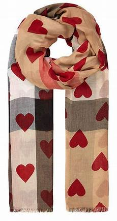 burberry schal herzen valentines gift for burberry print check scarf