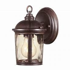 hton bay leeds mystic bronze outdoor wall lantern