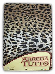 copriletto leopardato telo arredo gran foulard in puro cotone misura 1 piazza