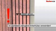 Gewindestange Mauerwerk Einkleben - befestigung mit gewindestange und injektionskleber in