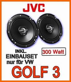 vw golf 3 iii front 300watt jvc lautsprecher boxen