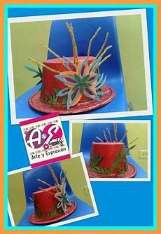 sombreros decorados con material reciclado tarea sombreros con material reciclado