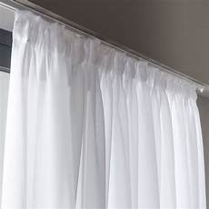 Voilage Transparent Grande Largeur Elixa Blanc N 176 0 L