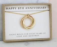 8th Wedding Anniversary Traditional Gift 8th anniversary gift for 8 year anniversary necklace for