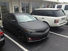 2012 toyota camry matte black wrap with black rims yelp