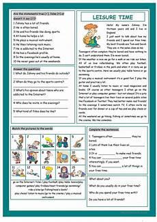 leisure time esl worksheets 3799 leisure time esl worksheets