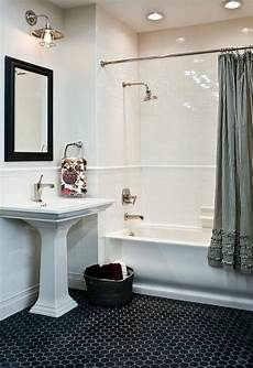 Black And White Subway Tile Bathroom Ideas by White Bathroom Ideas Subway Tile Guest Bath Black