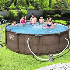 frame pool 366x100 bestway swimming schwimmbad frame pool quot power steel quot set