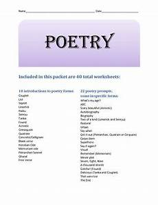 introduction to poetry worksheets middle school 25328 pin on tpt