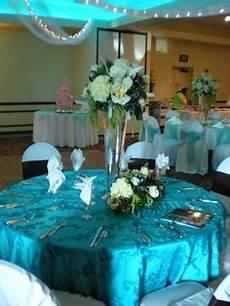 malibu blue and silver table settings centerpieces blue centerpieces wedding table