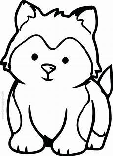 Malvorlagen Baby Hund Baby Husky Coloring Pages At Getdrawings Free