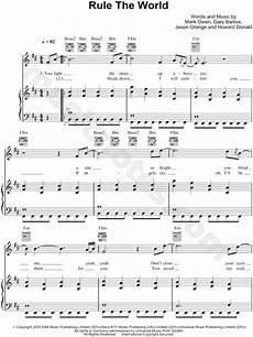 take that quot rule the world quot sheet music in b minor transposable download print sku mn0063928
