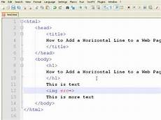 make line html how to create web pages using html how to add a