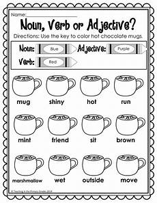 writing sentences with nouns verbs and adjectives worksheets 22120 winter math and literacy printables no prep grade activities adjective worksheet