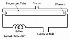 fluorescent light wiring diagram light circuit circuitstune