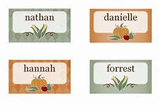 printable thanksgiving place cards released as part of new