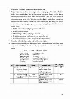 panduan penilaian kurikulum 2013 pada smk sesuai permendikbud no 53 t