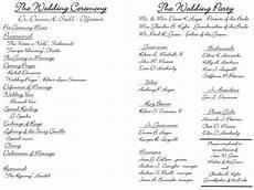 creative wedding programs wedding ceremony programs
