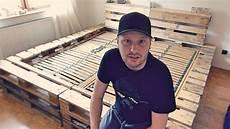 bett selber bauen paletten doppelbett selber bauen aus europaletten