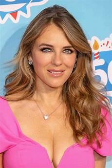 elizabeth hurley at kinder chocolate 50th anniversary