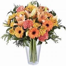 Lilies Germini And Chrysanthemums Orange Flowers