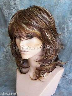details about 3tone deep auburn copper multi layers med nirvana wig