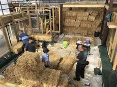 straw bale house planning permission first straw walls at tibshelf straw bale house thread
