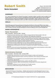 senior accountant resume sles qwikresume