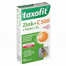 taxofit 174 zink vitamin c 500 selen d3 depot tabletten