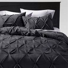 gray pinched pleat comforter king 3pc threshold target