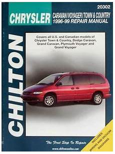 automotive repair manual 2002 chrysler town country parking system chilton chrysler caravan voyager town country 1996 99 repair manual book 9780801991158 ebay