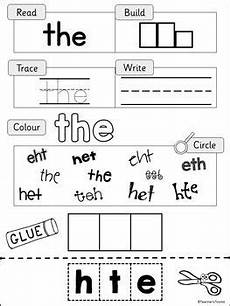 phonics worksheets 20405 phonics phase 2 tricky words practice worksheets uk teaching resources