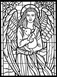 coloring pages stainedglass window daily two