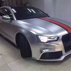 car wrapping folie 3d chrom matt metallic racing silver mit luftkan 228 len car