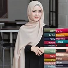 Pashmina Warna Mocca Model Terbaru