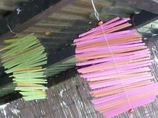Windspiel Basteln Mit Kindern - sommerlich bunt ein windspiel aus trinkhalmen