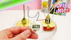 N Und L Strom - mit obst strom erzeugen fruchtbatterie mit apfel