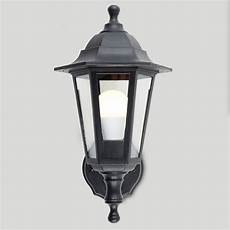 traditional style black outdoor security ip44 wall light lantern ledlam lighting