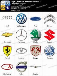 Logo Quiz Cars Answers Solver