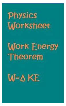 work energy theorem worksheet doc physics worksheet work energy theorem by anthony pecina tpt