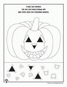 preschool halloween worksheets tracing cutting
