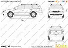 The Blueprints Vector Drawing Volkswagen Golf Variant