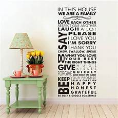 home decor stickers large we are family in this house vinyl family wall