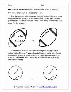 sports related worksheets 15870 sports word problems multiplication word problem worksheets with images multiplication