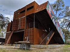 Boxed In Uf Lecturer Helps Construct House Made Of